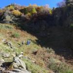 """Der steile Weg zum """"Gipfelkreuz"""""""
